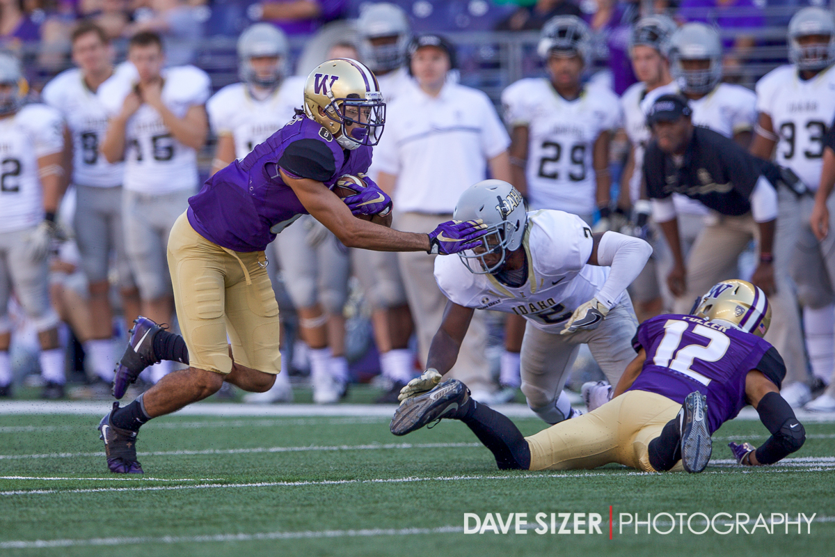 Dante Pettis with yards after the catch.