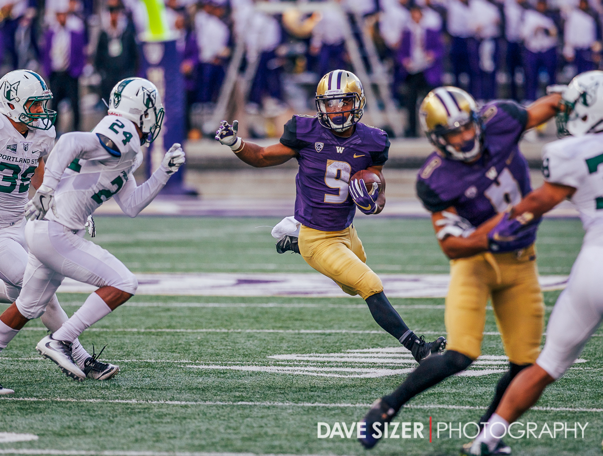 Myles Gaskin looks to carve up the defense.