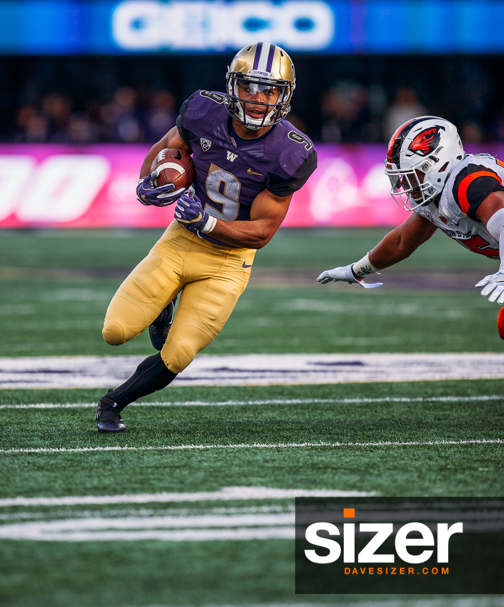Myles Gaskin breaks free for a run.