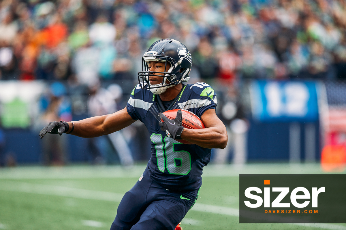 Tyler Lockett on a kickoff return.