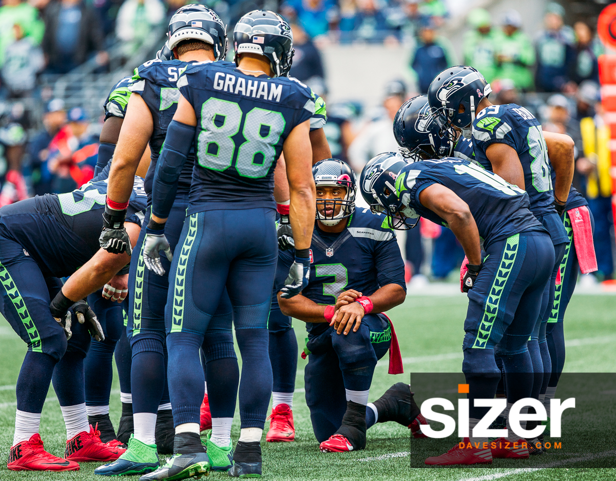 Russell Wilson gets the offense ready with the play.