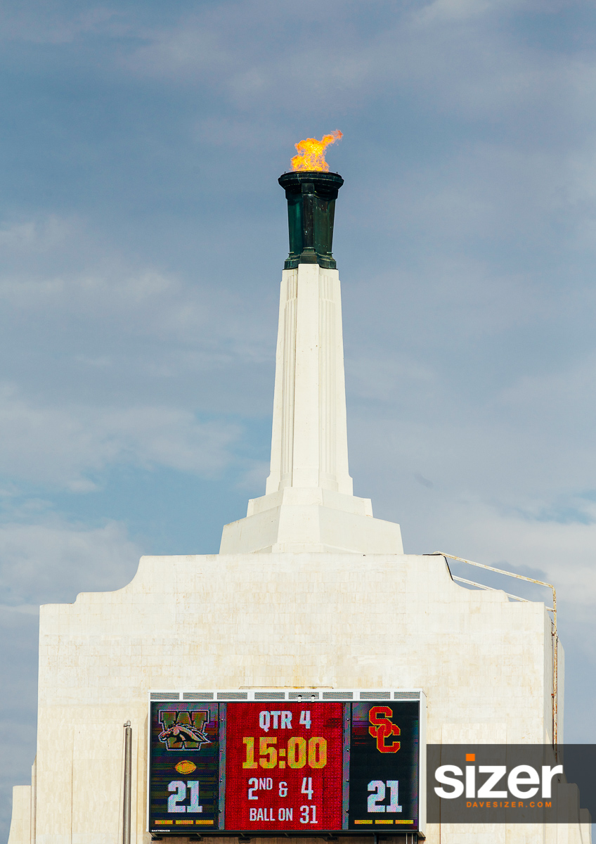 A USC tradition is to light the Olympic Torch at the beginning of the 4th Quarter.