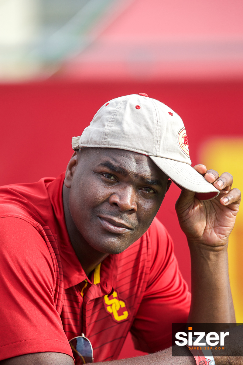 USC Alumni Keyshawn Johnson.